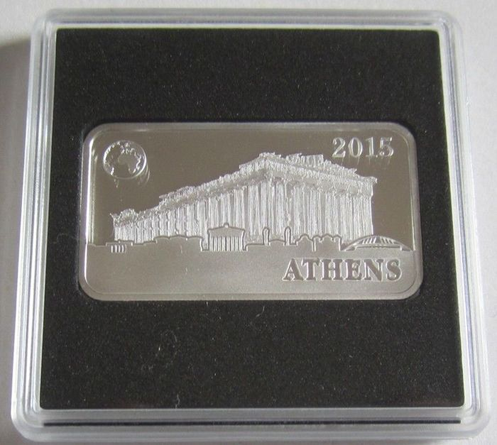 Solomon Islands - 2 Dollar 2014 'Monuments of the World - Athen' - 1/2 Oz  - Silver