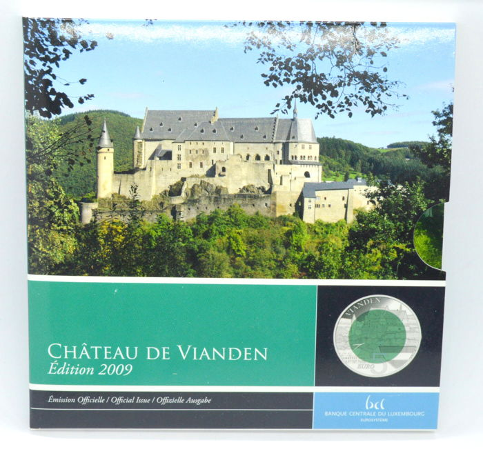 Luxembourg - 5 Euro 2009 ''Vianden'' in packaging  - Silver