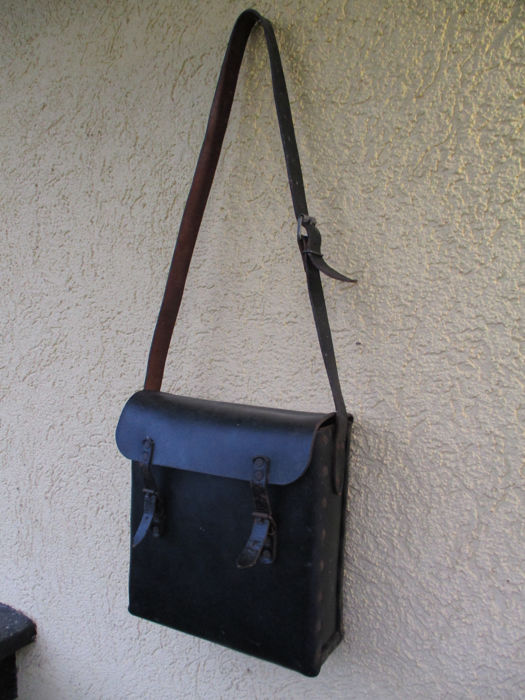Old leather bag mail bag - Leather