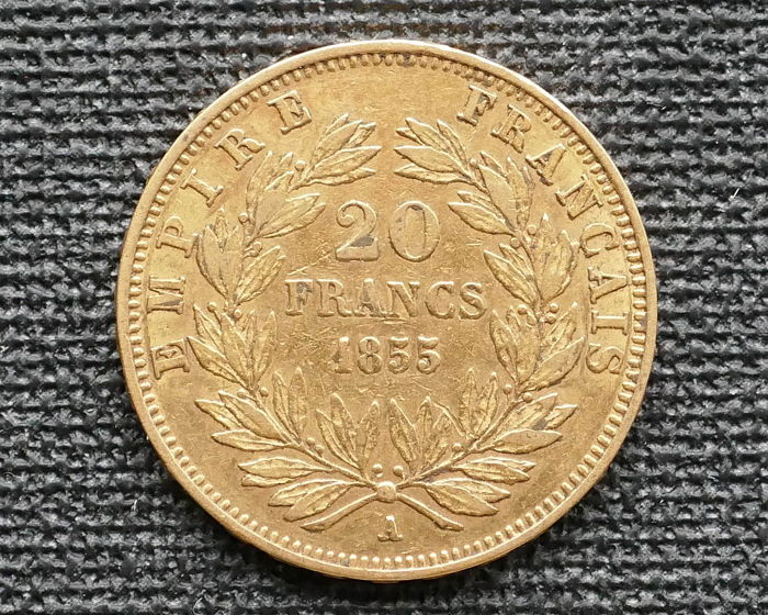 20 Francs  1855 A Napoléon III  - Or