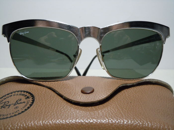 RAY BAN  W0756 Brushed Steel Vintage 90's - By B&L  Zonnebril
