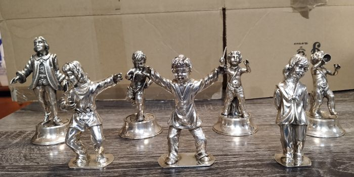 Figurine (s) (7) - .916 (88 Zolotniki) Silver - Spain - 2nd half of the 20th century