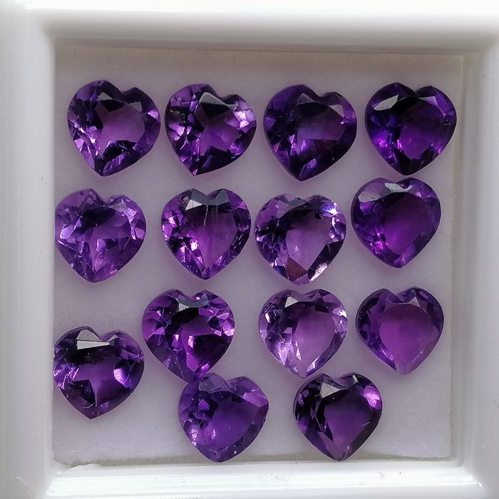 14 pcs  Amethyst, No Reservation Price - 6.01 ct