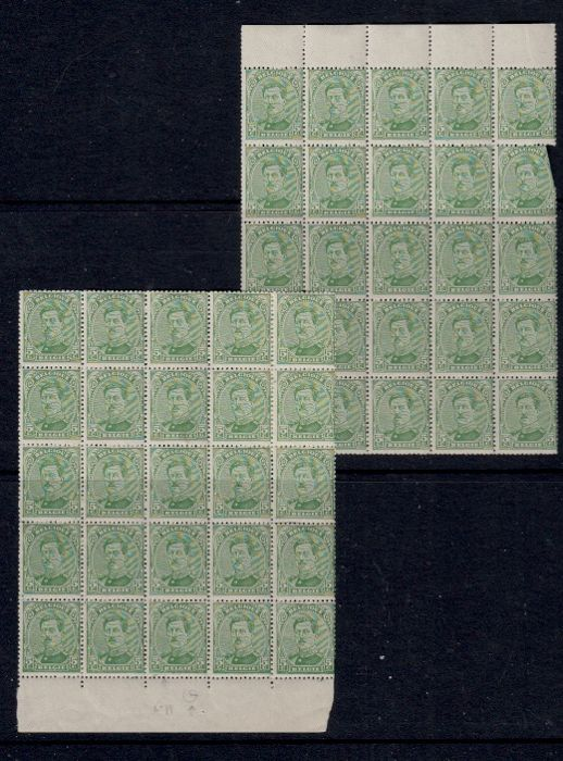 België 1915 - Issue 1915 - OBP / COB 137A (49x) , 137Aa (10x) Type II