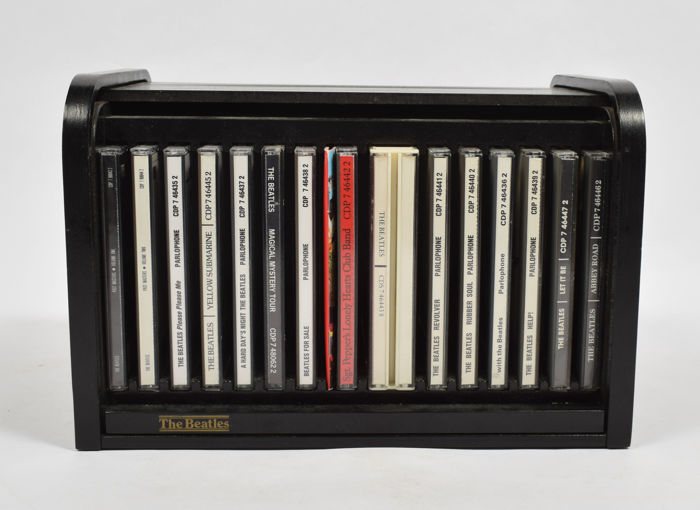 the beatles beatles box set edition 1988 on parlophone including 15 cd sets and book in roll. Black Bedroom Furniture Sets. Home Design Ideas
