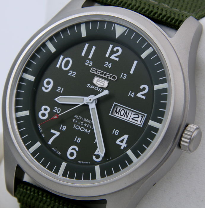 """Seiko - Automatic 23 Jewels 100M Green """"Made in Japan """" - """"NO RESERVE PRICE"""" - Heren - 2018"""