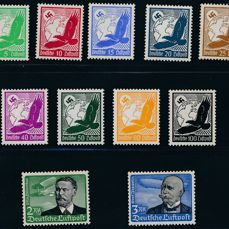 Imperio alemán 1934 - Airmail stamps from 5 pfennigs to 3 marks - Michel No 529/539x