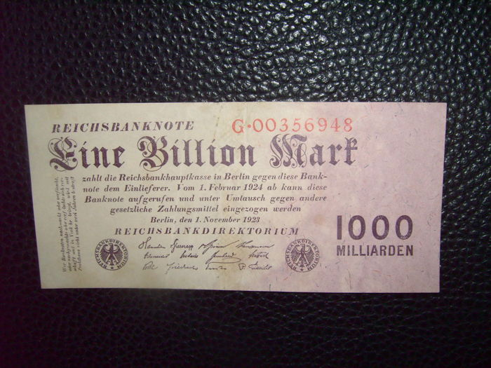 Germany - Deutsche Billion, Milliarden Reichsmark Banknoten. 1923-1945 - 10 Stück