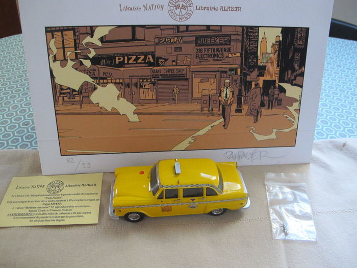 Berceuse Assassine 1 - Taxi miniature - Checker Cab New York 1974 + sérigraphie comme décor - (1999/1999)