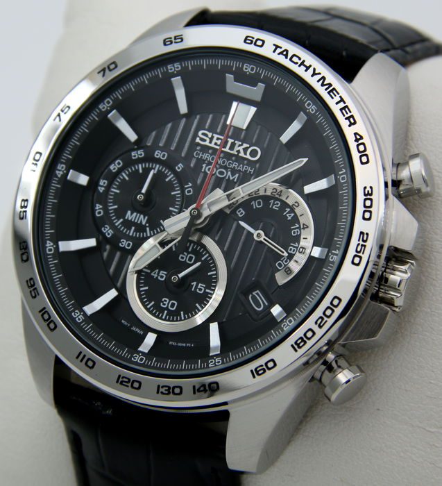 detailed look 986d4 1fb44 Seiko - Chronograph Tachymeter 100M Leather -