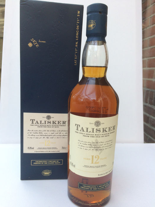 Talisker 12 years old Celebrating a Decade Friends of the Classic Malts  - b. 2007 - 70cl