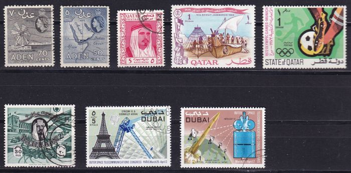 North Africa and Arab countries (Asia) - together 1,274 different stamps