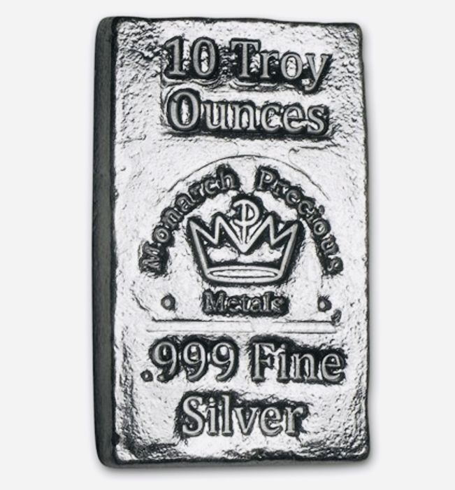 10 oz - Zilver .999 - Monarch Precious Metals, USA - Seal