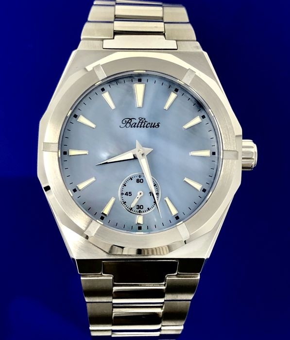 Balticus - Blue Mother of Pearl Dial Stainless Steel band with extra leather strap - Dames - 2011-heden