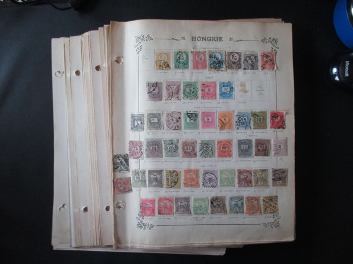 Hungary 1872/1980 - Starting with classics, collection on loose pages