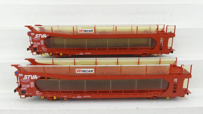 Bachmann 00 - 38-250 - Freight carriage - Set of double car transport cars 'STVA'