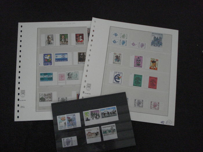 België 1970/1996 - Lot with imperforate stamps with number
