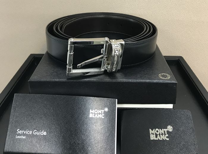 Montblanc - Reversible Calfskin Leather Belt (Ref. 105092)@ Belt
