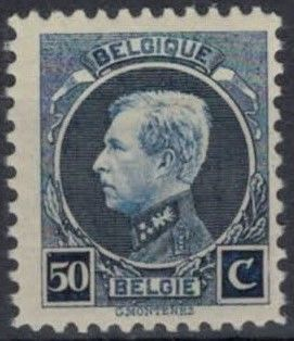 Belgium 1922/1922 - New image King Albert I, type Montenez 50 cents perforation 11.5 x 11 - OBP / COB 211C