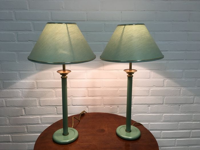 Table / Bed Lamps (2) - Brass, Iron (cast/wrought)
