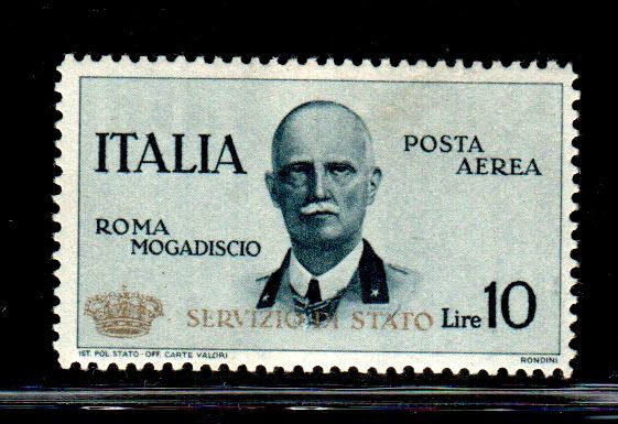 "Italië koninkrijk 1934 - Air Service: Rome - Mogadishu ""Small crown"" - Sassone N. 2"