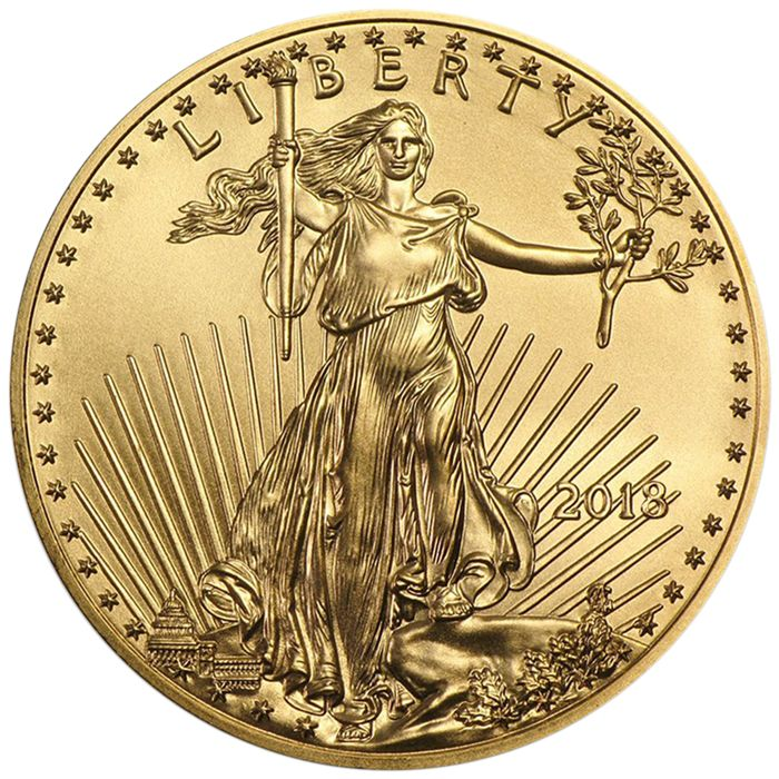 United States - 50 Dollars 2018 American Eagle - 1 oz - Gold