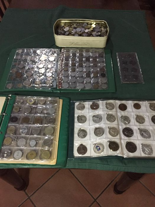 World - Lot various coins (1140 pieces) + medals (60 pieces)