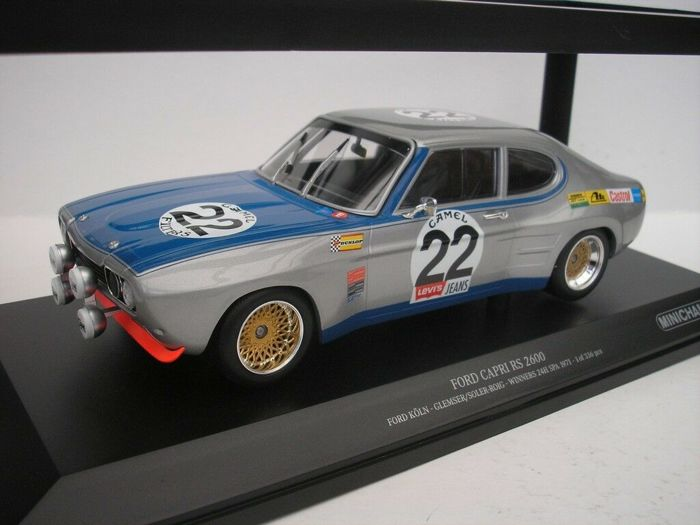 MiniChamps - 1:18 - Ford Capri RS2600 - Winner 24h Spa 1971 - Edición limitada!