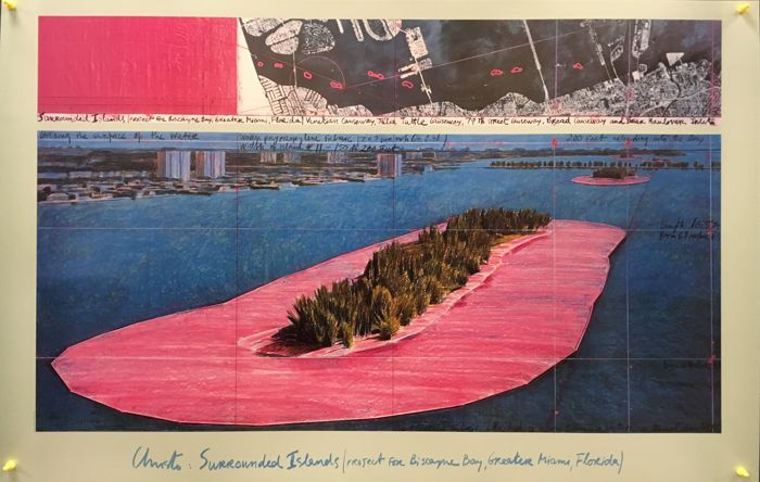 Javacheff Christo -  Surrounded Islands - 1982