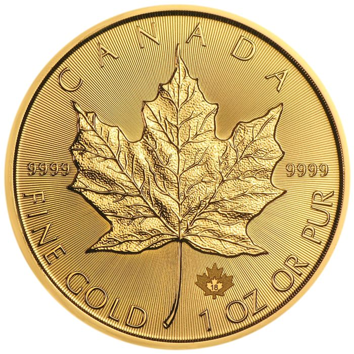 Canada - 50 Dollars 2018 Maple Leaf - 1 oz - Or