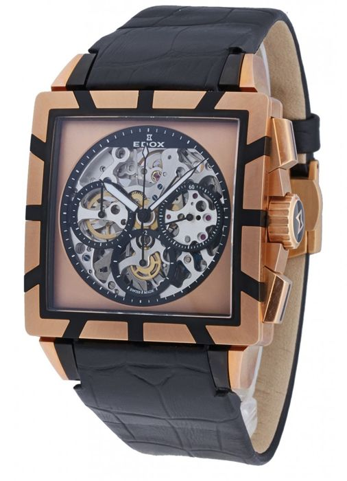 Edox - Classe Royale Jackpot Chronograph Limited Edition - 95001 357RN NIR - Heren - 2011-heden