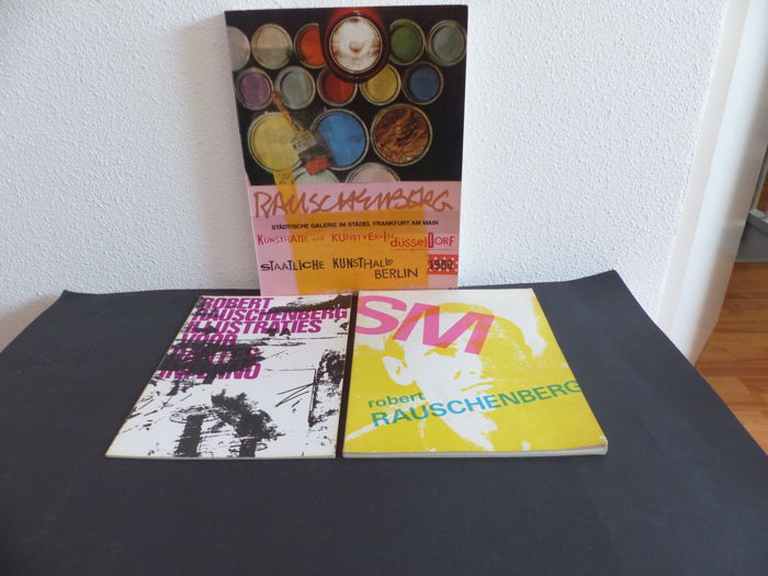Robert Rauschenberg - Lot with 3 books - 1965/1980