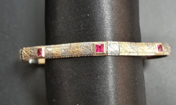 Gold bracelet, made in Italy, 1950s
