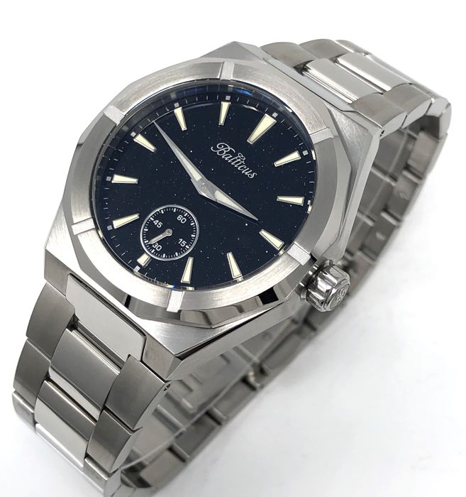 Balticus - Black Star Dust Dial Stainless steel band with extra Blue strap - Men - 2011-present