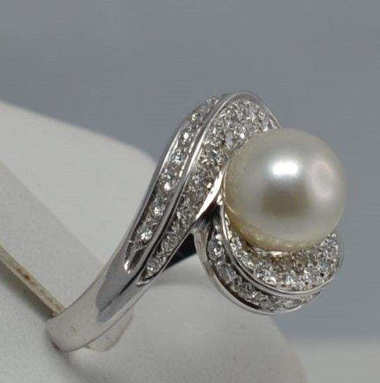 18 carats Or blanc - Bague - Diamant