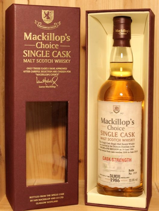 Dalmore 1986 24 years old Single Cask - Mackillop's Choice - b. 2010 - 70cl