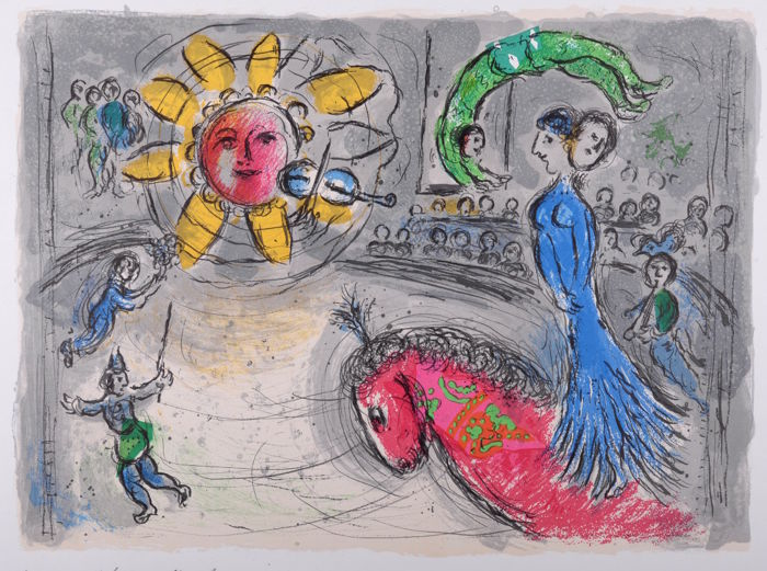 Marc Chagall - Sun With Red Horse