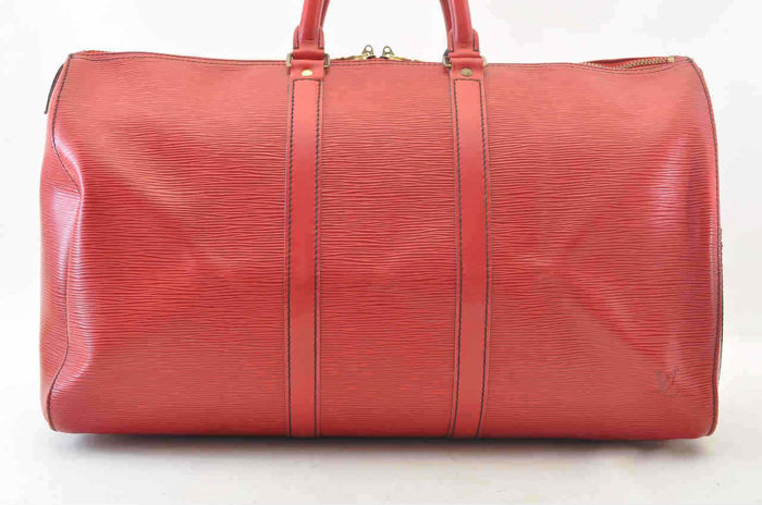 Louis Vuitton Keepall 45 Red Castillan Epi