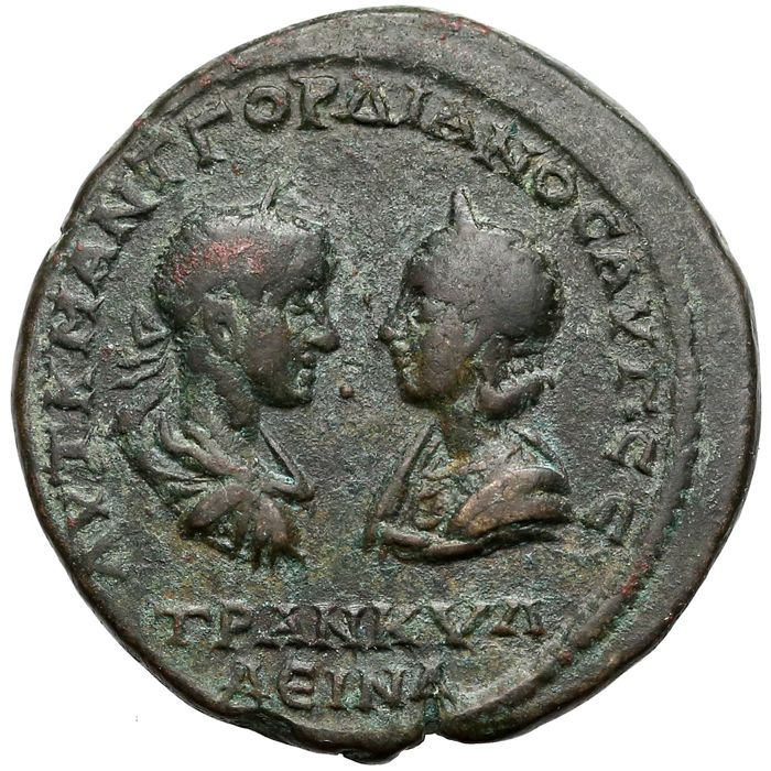 Empire romain - Provincial. Moesia Inferior, Tomis. AE 28, Gordian III (AD 238-244) and Tranquillina