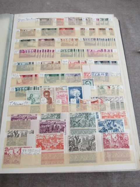 Former French colonies - Significant stock of stamps including series
