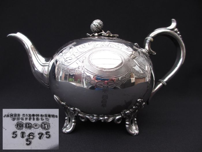 James Dixon and sons - Victorian teapot Sheffield - silver plated - England - 1850-1880