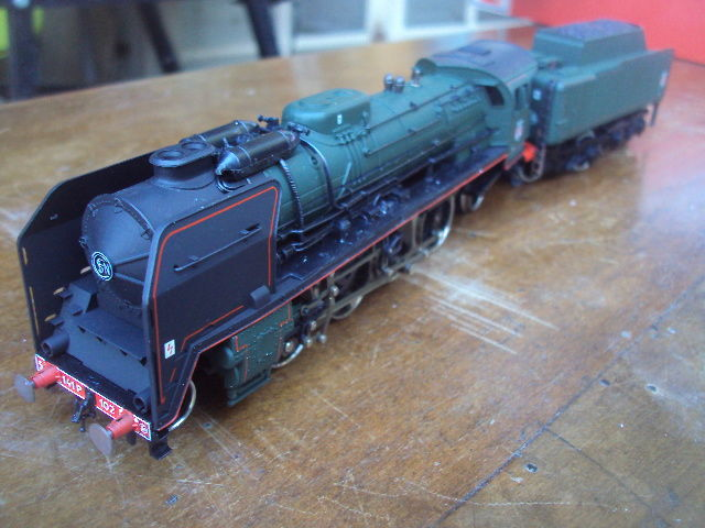 Jouef H0 - 8269 - Steam locomotive with tender - Serie 141.P - SNCF