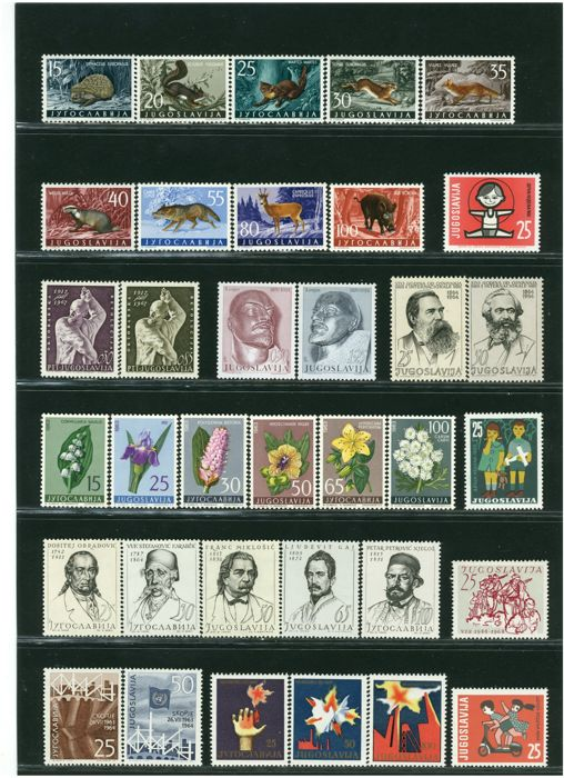 Yugoslavia 1962/2001 - Selection of stamps from the period - with souvenir sheets and booklets