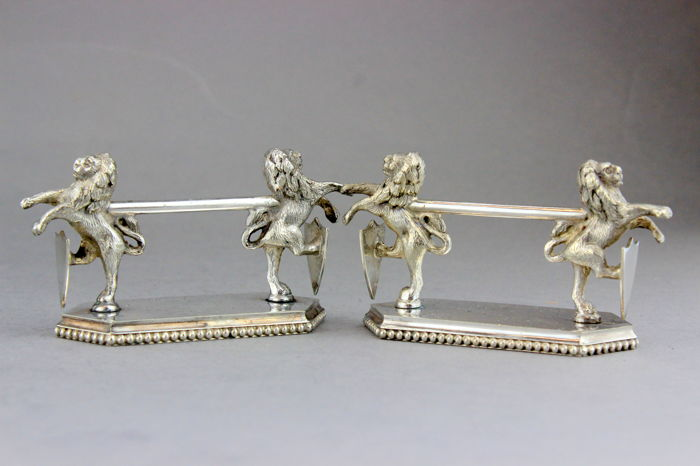 Set di coltelli - Placcato argento - Travis Willson & Co Ltd - Regno Unito - 1910