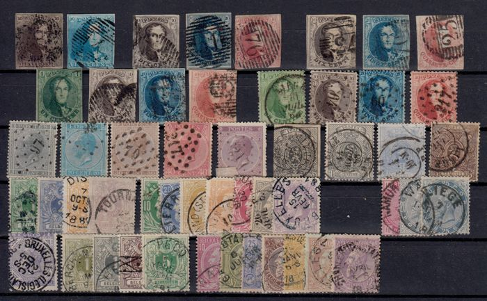 België 1849/1907 - Klassiek lot - OBP / COB 1/36 + 38/83