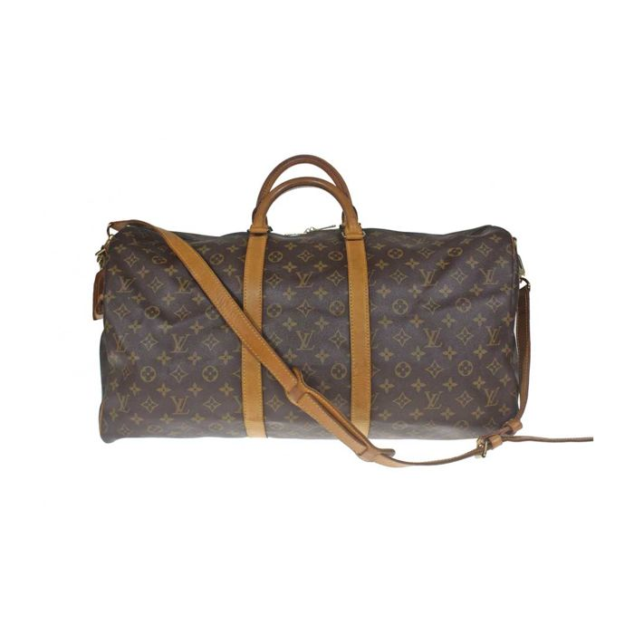 64a9f8db5273 Louis Vuitton - Monogram KEEPALL 55 Bandouliere Travel bag - Catawiki