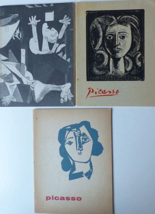 Picasso - Lot with 3 catalogues - 1945/1956