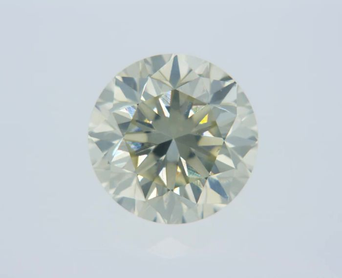 1 pcs Diamant - 0.93 ct - Rond - I - VS1