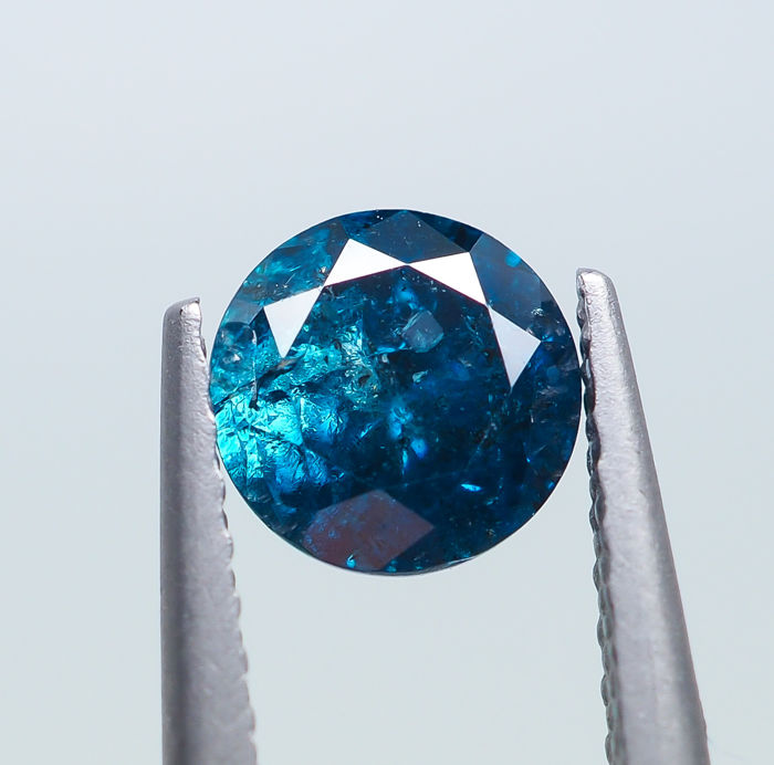 Diamond - 0.67 ct - Fancy DARK Blue - I2 *NO RESERVE*