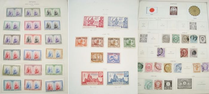 World 1868/1925 - classic stamps on pages
